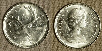 Errors : Canada: 1974  25 cent on struck 5 cent  n (CGE107)