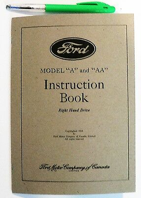 Ford Model 'A' and 'AA' Instruction Book.