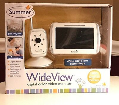 NEW! SUMMER INFANT IN VIEW DIGITAL COLOR VIDEO BABY MONITOR Wide view 553