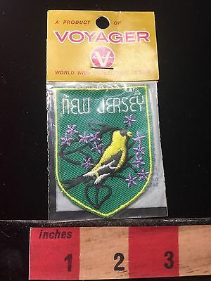 Vtg Voyager Brand World Wide Collectors Series  New Jersey Patch 60C1