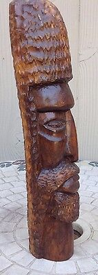 "Hand Carved Wood African Tribal Statue 11"" Tall"