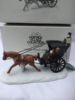 Dept 56 Heritage Village Collection Kings Road Cab Horse Carriage #5581-6