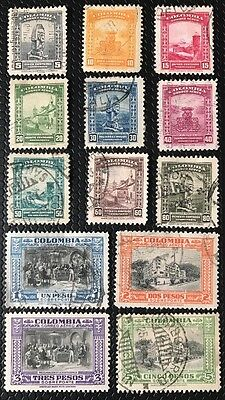 Columbia Stamp Set Sc C121-C133 Used