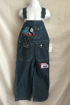 Nwt Thomas The Tank Engine Train Denim Pants Overalls Size 4T