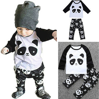 Toddler Kids Baby Boys Girls Outfits Clothes Sweatshirt Tops+Long Pants 2PCS Set