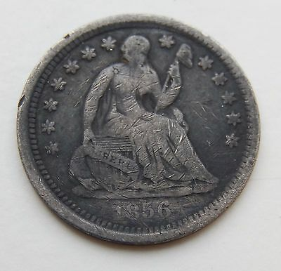 1856 Seated Liberty Half Dime Silver Coin