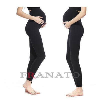 Pregnancy Maternity Spandex Stretch Leggings Seamless Pants Support Trousers New