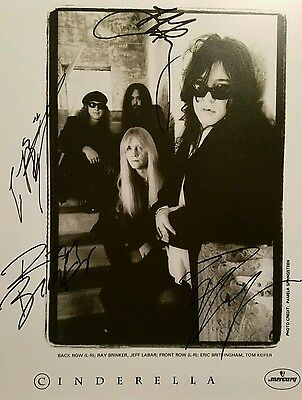 Cinderella band autographed/signed  B&W 8x10  Still Climbing Keifer