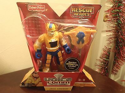 """Fisher Price Rescue Heroes Voice Command Hero World """"jack Hammer"""". New"""