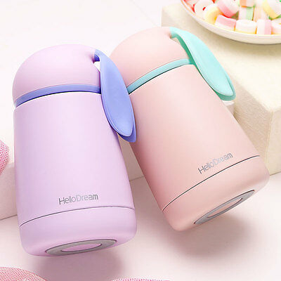 Hot Kids Girls Bunny Stainless Steel Vacuum Cup Travel Mug Thermos Bottle 300ML