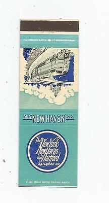 New York, New Haven and Hartford Railroad Co.   Matchcover