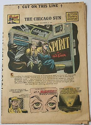 The Spirit Will Eisner Dec 8 1946 Chicago Sun Weekly Newspaper Comic 8 Pages