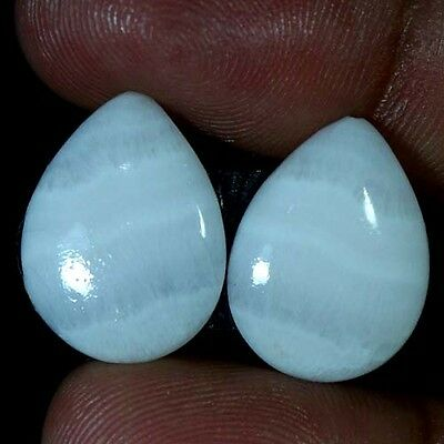 19.75Cts 100% Natural Pink Opal Pear Cabochon Rarest Matched Pair Loose Gemstone