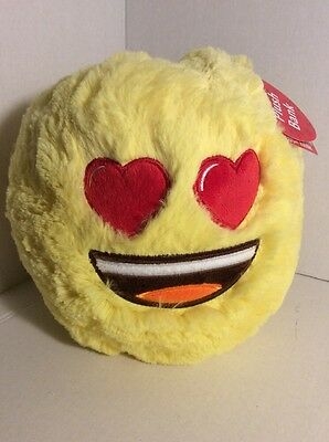 "EMOJI LOVE  Plush Toy Coin Bank 9"" Exclusive FREE Ship NEW"