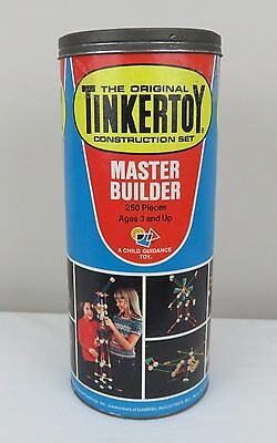 The Original Tinkertoy Construction Set Master Builder Edition 1978
