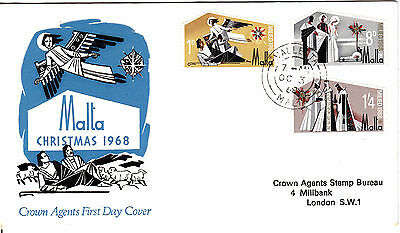 1968 - Malta -  Christmas - First day Cover