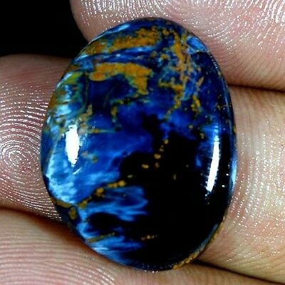 14.55Cts. 100% NATURAL SPARKLING PIETERSITE OVAL CABOCHON FINE QUALITY GEMSTONES
