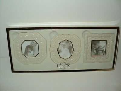 NEW in Box Classic Lenox Beaded Picture Frames Set of 3 #6141980