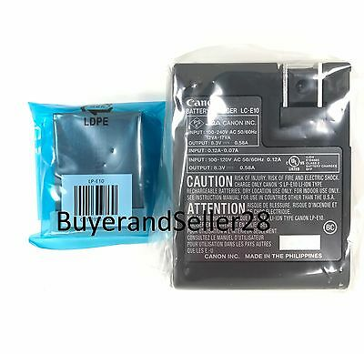 Genuine Canon Rebel T3/T5/T6 Camera Battery w/Charger Combo LP-E10, LC-E10