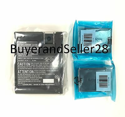 Genuine OEM Canon Rebel Battery x2 w/Charger Fits T3/T5/T6/T7 LP-E10 LC-E10