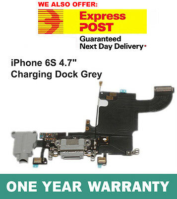 """New USB Dock Charging Port Flex Cable Replacement For iPhone 6S 4.7"""" Grey"""