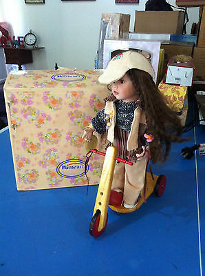 Collectors Porcelain Doll with Scooter