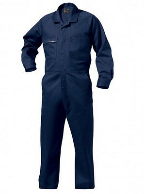 KING GEE COMBINATION DRILL OVERALLS x 2, NAVY,  87R (AS NEW)