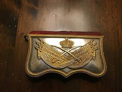 18th or 19th Century Royal Military Belt Pouch Museum Antique Piece WOW!