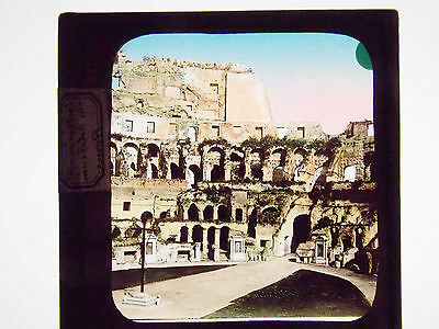 Colluseum Rome Hand Tinted Glass Lantern Slide