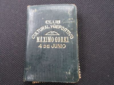 Argentine immigrant documents 1950, old rare
