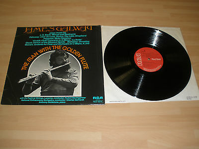 "James Galway 12"" Vinyl Lp The Man With The Golden Flute Rca 1976 Ex """