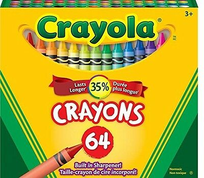 Crayola 64 Ct Crayons (52-0064), New Toys And Games