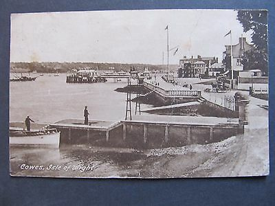 1927 Vintage UK Postcard Cowes, Isle of Wight, Tax Stamped T10 & T1D, Cowes pmk
