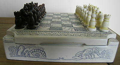 Scrimshaw Style Chess Set..history Craft..made In England..boxed