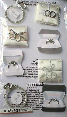 JOLEE'S BOUTIQUE ENGAGEMENT RINGS Engaged Scrapbook Craft Stickers Embellishment