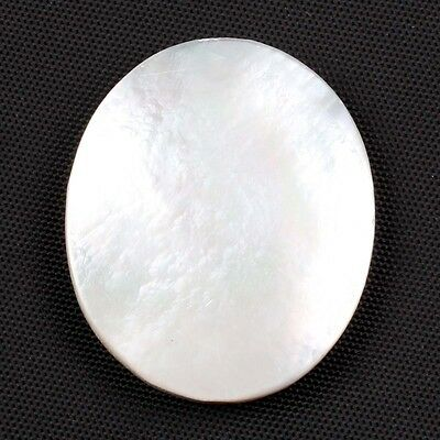 Rare Oval Flat 33.00 Cts Natural MOTHER OF PEARL SHELL Jewelry Gemstone 30x25 mm