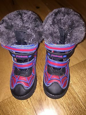 Spider-Man Winter Snow Boots Size Infant 8 Boys