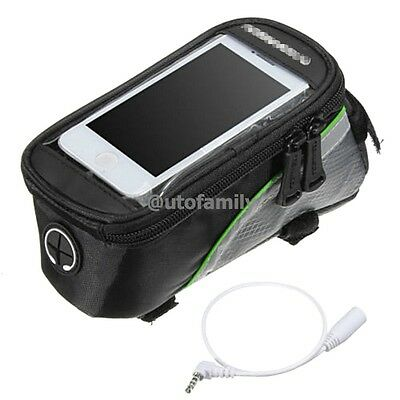 ROSWHEEL Cycling Bicycle Bike Frame Pannier Front Tube Bag Cell Phone Holder New