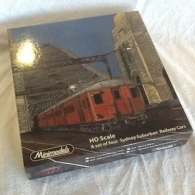 Minimodels NSWGR HO Red Rattler set of 4 in pristine condition