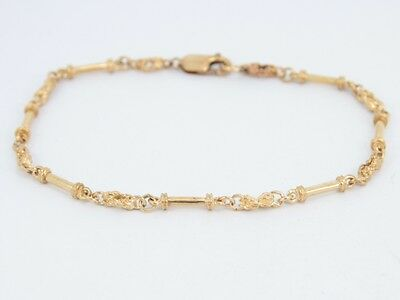 9ct Solid Gold Chain Bracelet Stunning Ladies Vintage 375 A67
