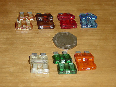 Car, Truck and Tractor Standard Fuses Set of 14, 5 7.5 10 15 25 30 40 amp