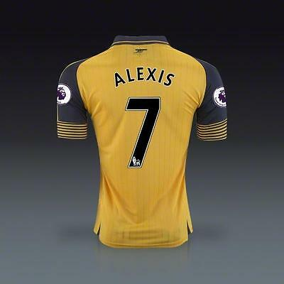 Arsenal Soccer Jersey Away Jersey ALEXIS 7 US size S