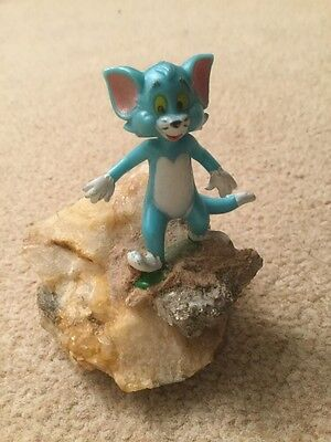 vintage collectable tom cat from tom and jerry figure on a rock from 1970 1980 s