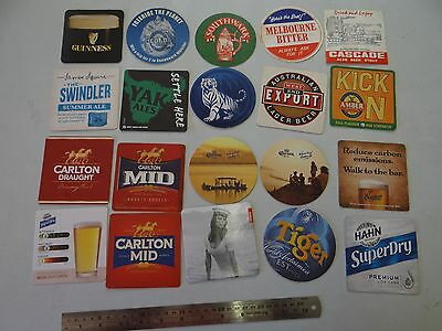 20 x MIXED COLLECTABLE BEER COASTERS/MATS SB18