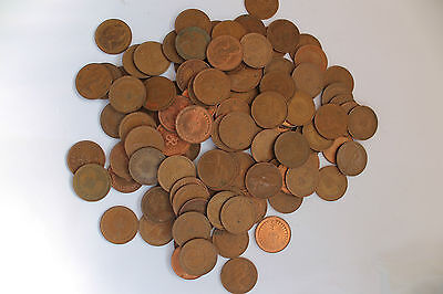 DECIMAL 1/2p HALF PENNY * Elizabeth II *  Bulk / Job Lot of 100 Mixed coins