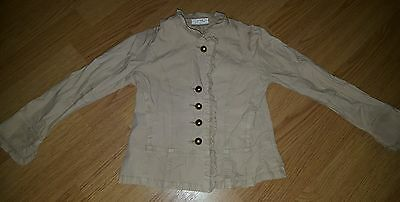 Girls Beige Jacket. From Next. 3-4 Years.  Cotton. Vgc. Party. Smart. Stylish