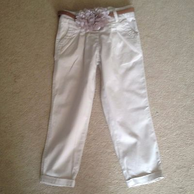 girls trousers with flower belt age 2-3 years in very good condition