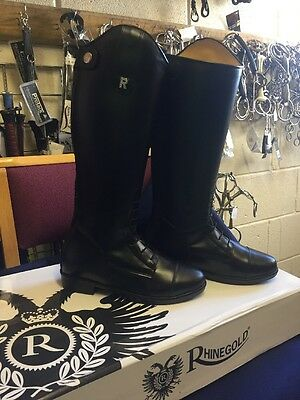 BNWT Rhinegold Childrens Louisiana Long Leather Riding Boots Size 4
