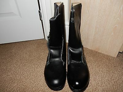 British Army 1980s  Black High Leg Combat Boots Size 9  NEW