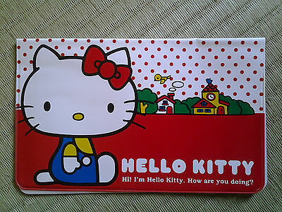Hello Kitty Sanrio red & white vinyl checkbook cover -w/ free postage from Japan